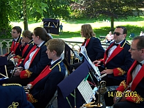 The Band on Hexham bandstand